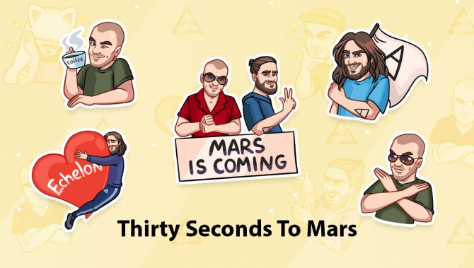 Стикеры Thirty Seconds to Mars